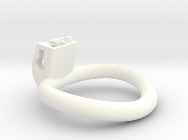 Cherry Keeper Wide Oval Ring - 45mmx40mm in White Processed Versatile Plastic