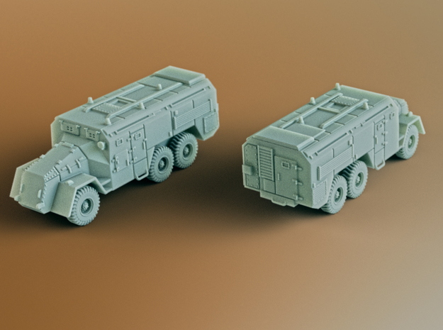 AEC Armoured Command Vehicle 6x6 Scale: 1:200 in Smooth Fine Detail Plastic