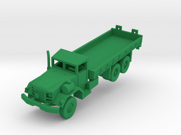 M814 Long Wheelbase Truck in Green Processed Versatile Plastic: 1:160 - N