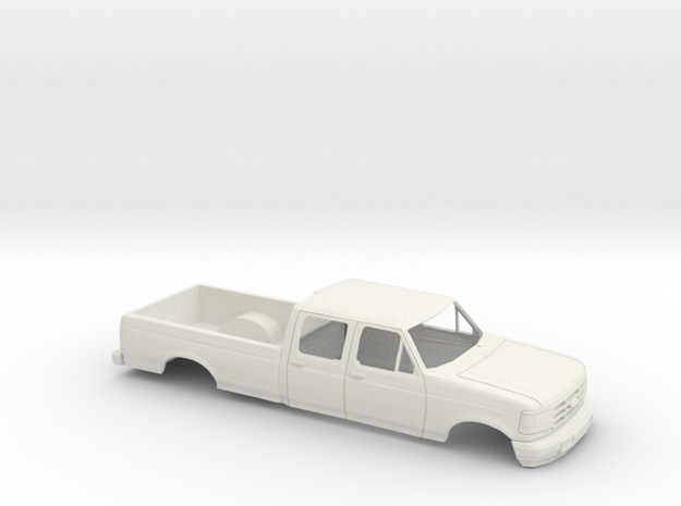 1/32 1994 Ford F Series Crew Cab Shell in White Natural Versatile Plastic