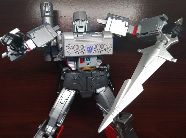 Takara G1 Sword for MP-36 Megatron in Smooth Fine Detail Plastic