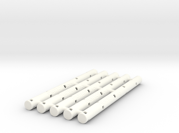 Adapters: Multiple Fisher PR to Uni SXR-80 (x5) in White Processed Versatile Plastic