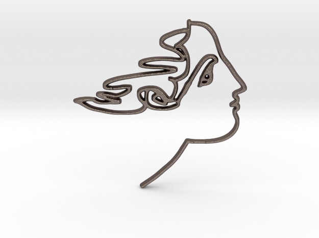 Silhouette 1 in Polished Bronzed-Silver Steel