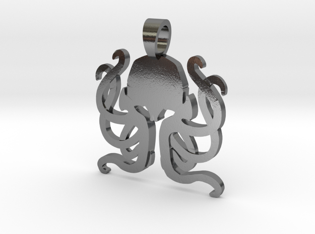 Cthulhu  [pendant] in Polished Silver