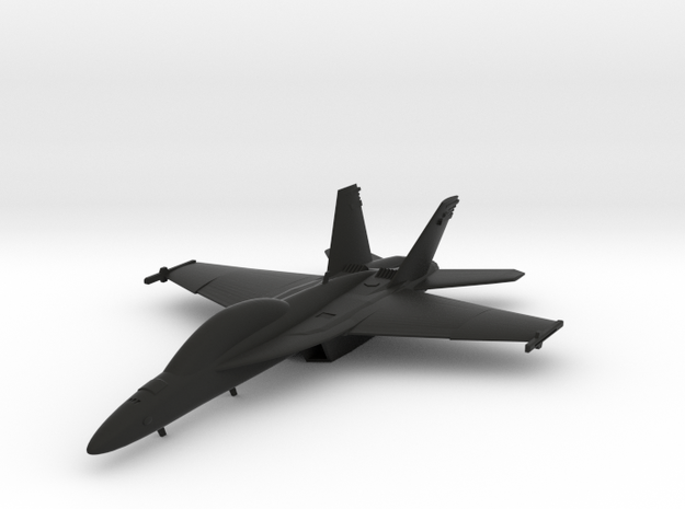 Boeing F/A-18F Super Hornet in Black Natural Versatile Plastic: 1:96
