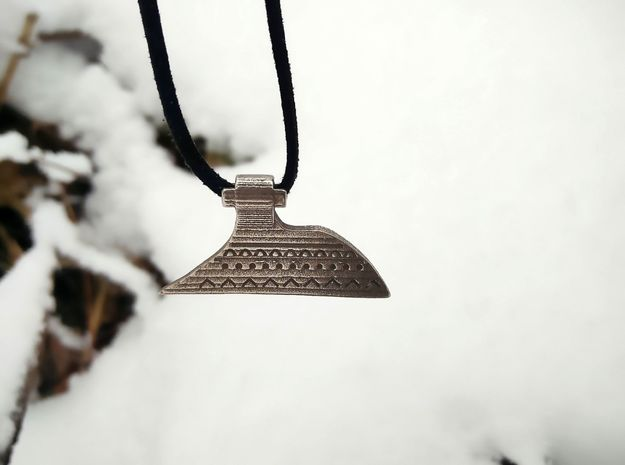 Sparth Axe Pendant in Polished Bronzed-Silver Steel