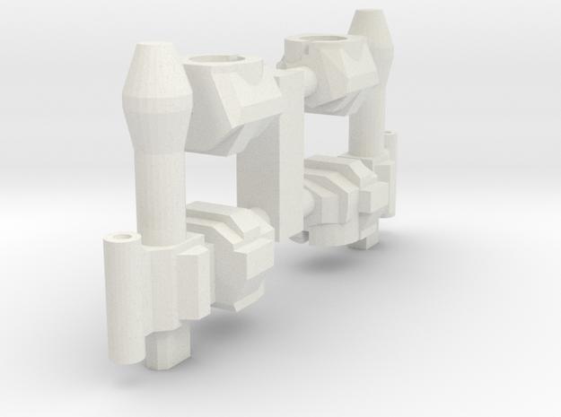 Hands for Micro Jet Guy in White Natural Versatile Plastic