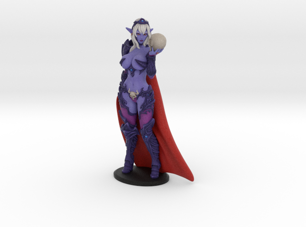 Dark Queen Syx VARIANT w Cape - 200mm (approx 8 i in Natural Full Color Sandstone