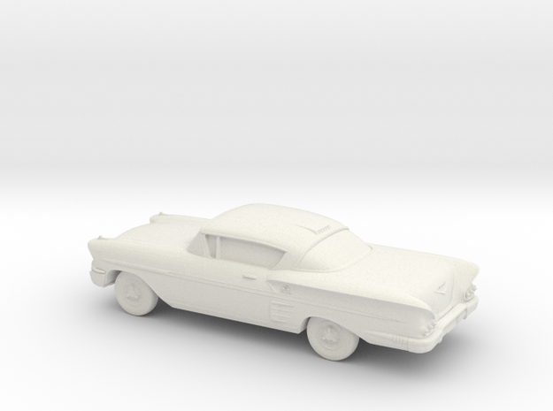 1/43 1958  Chevrolet Impala Coupe in White Natural Versatile Plastic