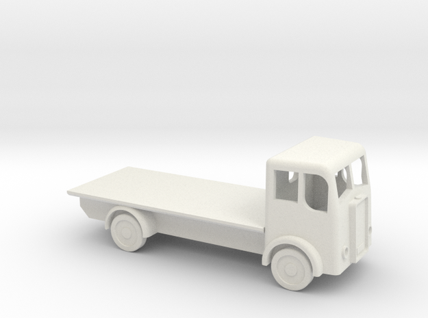 N gauge flatbed lorry in White Natural Versatile Plastic