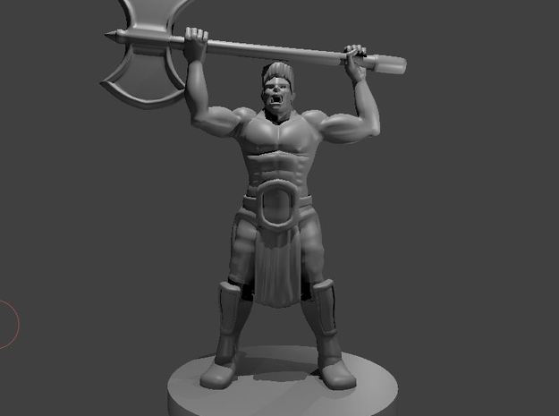 Half Orc Barbarian WITH A MULLET raging