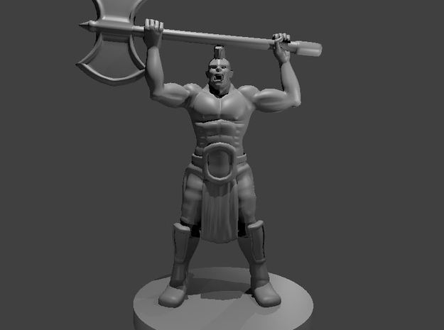 Half Orc Barbarian WITH A MOHAWK raging