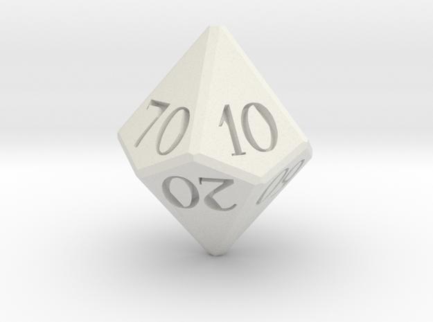 D00 Dice  in White Natural Versatile Plastic