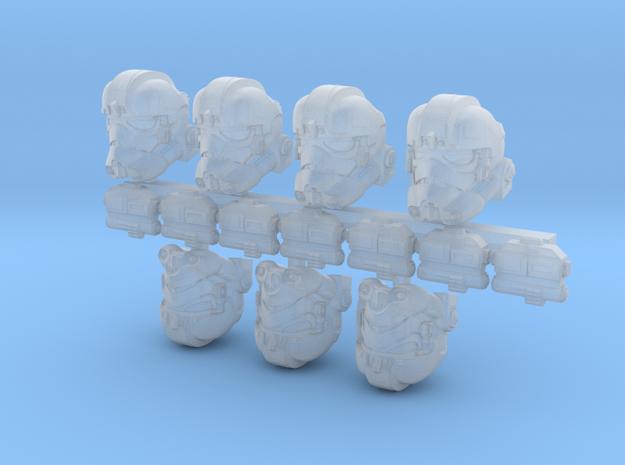 Dogwalker Bucketheads (x7) in Smoothest Fine Detail Plastic