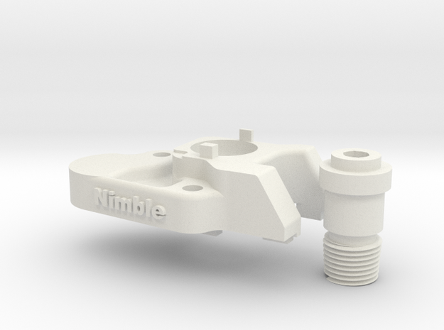 Nimble V1 CR-10 Mount  for the Nimble in White Natural Versatile Plastic