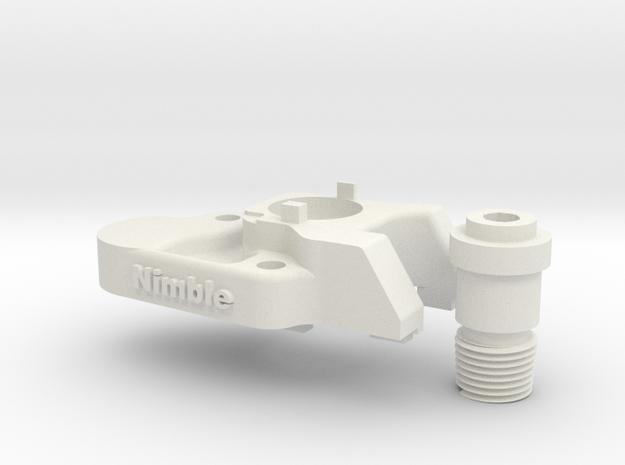 Nimble V1 CR-10 Mount  for the Nimble in White Natural Versatile Plastic