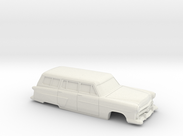 1/48 1952 Ford Crestline Station Wagon Shell in White Natural Versatile Plastic