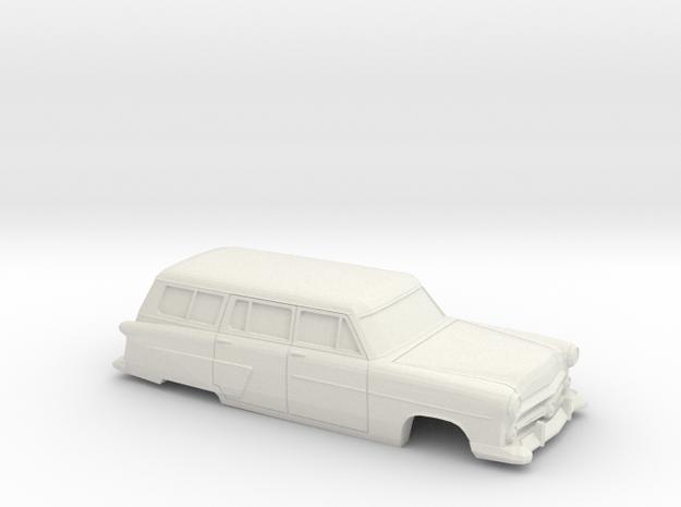 1/48 1952 Ford Crestline Station Wagon Shell in White Natural Versatile Plastic