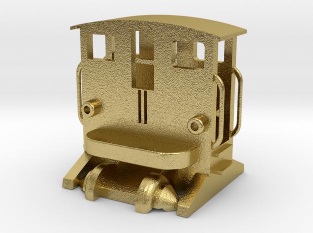 BREUER Rangiertraktor mit Fahrwerk und Rädern 1:16 in Natural Brass