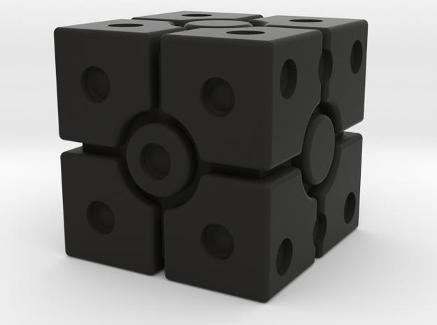 Imperial Scanner Dice in Black Premium Versatile Plastic: Small