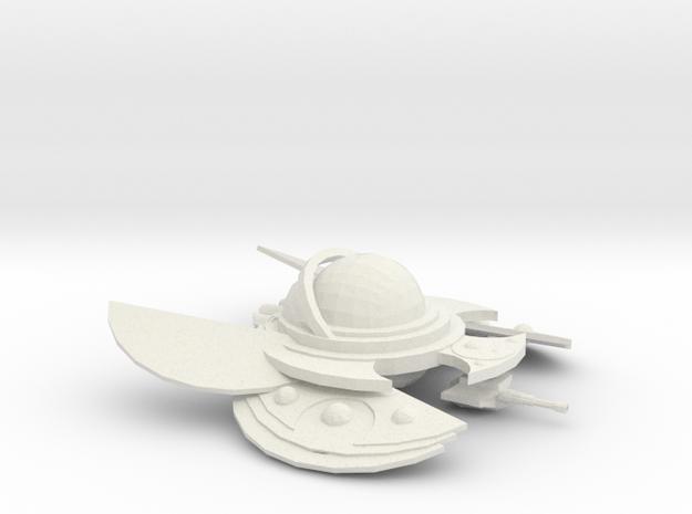 The Alien Swarmer in White Natural Versatile Plastic