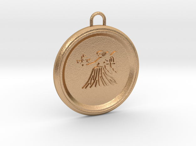 virgo-pendant in Natural Bronze