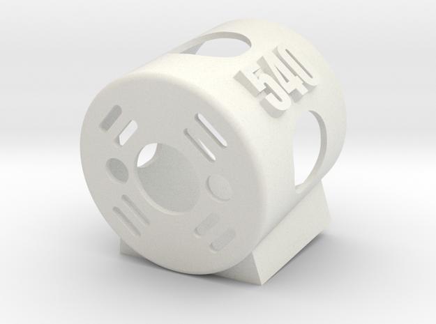 540 Motor Mount AT 10 deg in White Natural Versatile Plastic