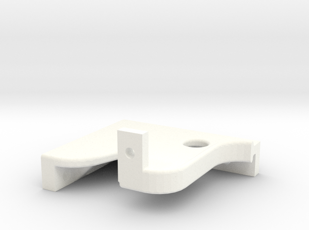 Juliet B-4 Left Side Crosshead Guide Hanger in White Processed Versatile Plastic