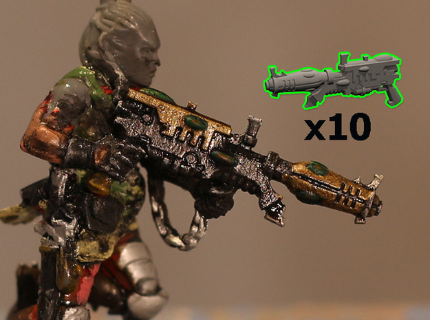 28mm Space elf blasters (10) in Smoothest Fine Detail Plastic