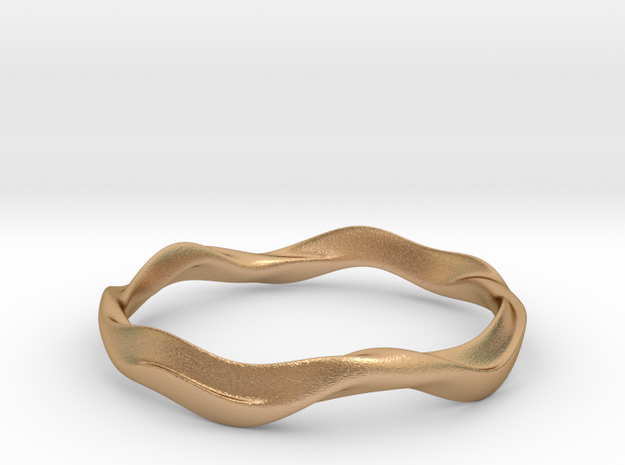 Ima Wave Bangle - Bracelet in Natural Bronze: Extra Small