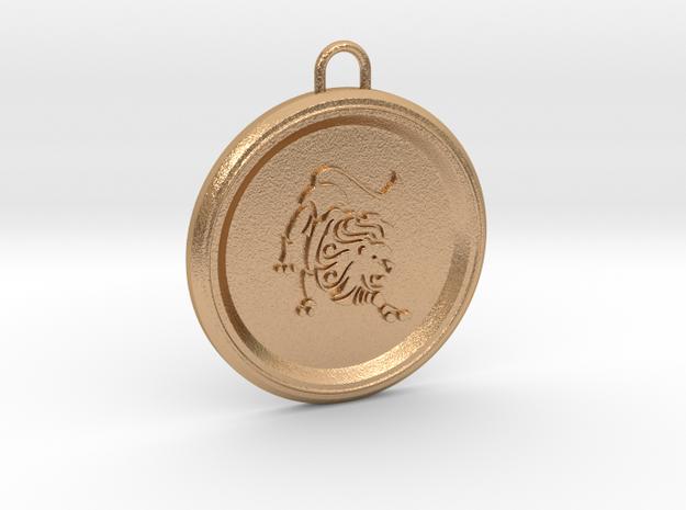 leo-pendant in Natural Bronze