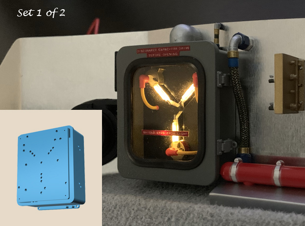 1:8 BTTF DeLorean Flux Capacitor set 1 of 2 in Smooth Fine Detail Plastic