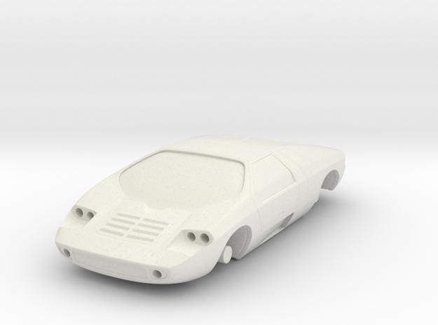 Spyhunter Car in White Natural Versatile Plastic