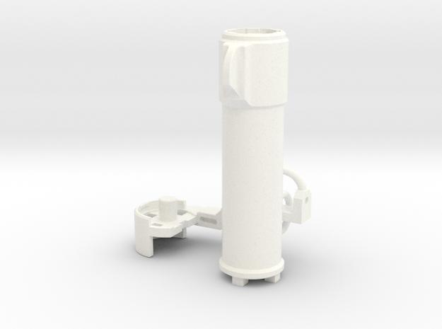 Original Tyrant's Gun Barrel in White Processed Versatile Plastic