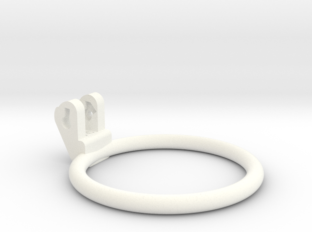 New Fun Cage - Ring - 76mm - Circular in White Processed Versatile Plastic