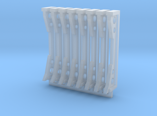 Stanchions in Smooth Fine Detail Plastic