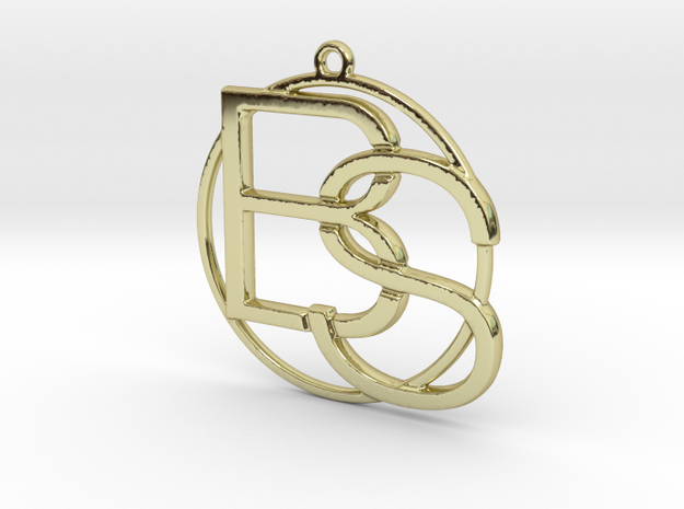 B&S Monogram in 18k Gold Plated Brass
