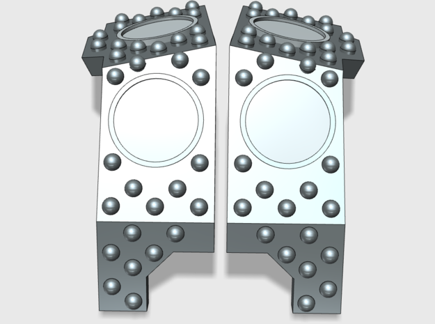 Stud Circle: Redem Carapace (VIS-Ready) in Smooth Fine Detail Plastic