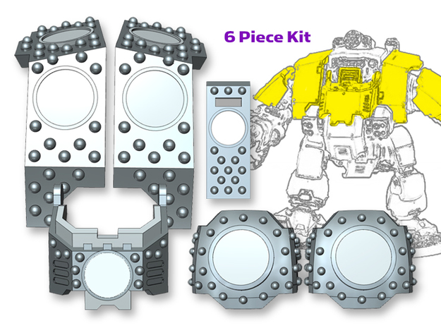 Stud Circle: Redem Full Kit (VIS-Ready) in Smooth Fine Detail Plastic