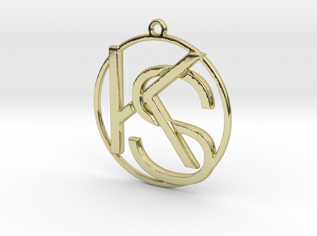 K&S Monogram in 18k Gold Plated Brass