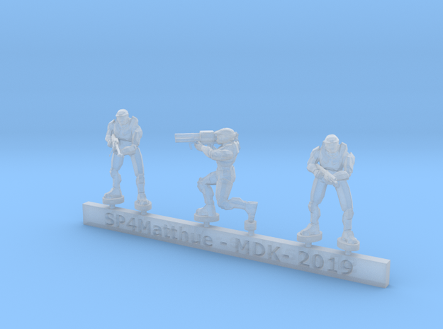 Scifi Spartans with special weapons sprue in Smooth Fine Detail Plastic: 6mm