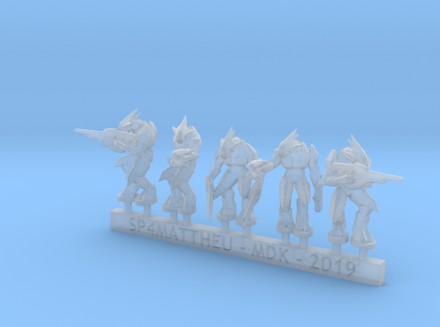 Alien Warriors in heavy armor sprue in Smooth Fine Detail Plastic: 6mm