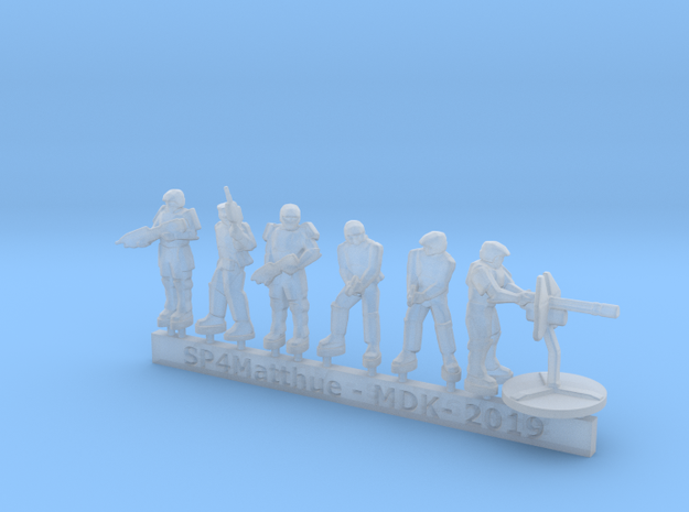 Scifi Marine Leader and Heavy Support sprue in Smooth Fine Detail Plastic: 6mm