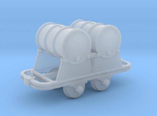 Benzinfaßlore(2Fässer) - TTf 1:120 in Smooth Fine Detail Plastic