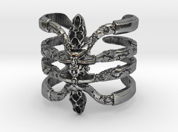 Recluse - Detailed Sterling Silver Ring in Antique Silver: 8.5 / 58