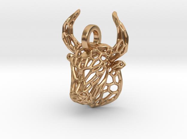 Bull Pendant in Polished Bronze