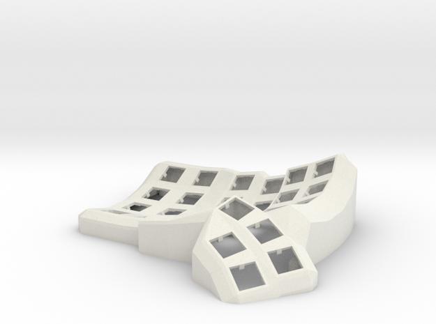 Dactyl Manuform Mini Mechanical Keyboard (Left) in White Natural Versatile Plastic