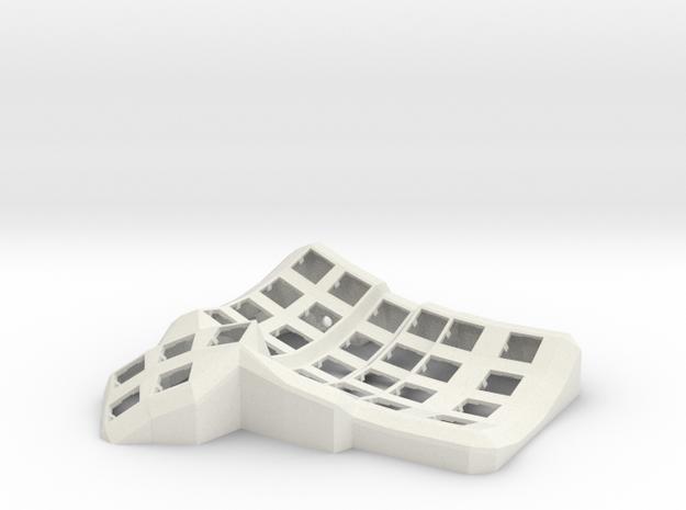 Dactyl Manuform Mini (Right) in White Natural Versatile Plastic