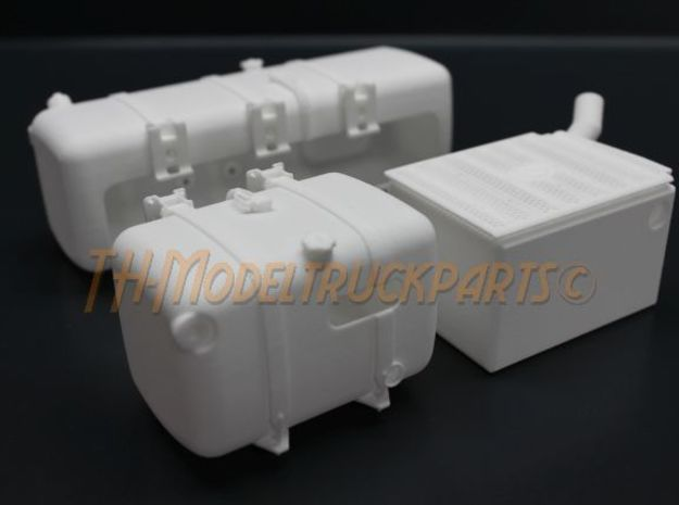 THM 00.3109-UI Exhaust right Tamiya Actros in White Processed Versatile Plastic