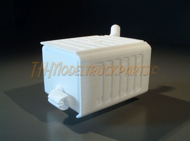 THM 00.3201 Exhaust + outlet Tamiya Actros in White Processed Versatile Plastic